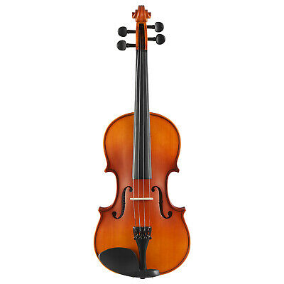 4/4 Full Size Solid Wood Acoustic Violin with Fiddle, Case, Bow&Rosin Tangerine