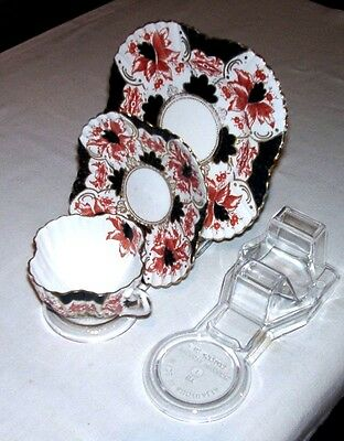 8 Cup Saucer And Plate  Display Stands - Clear - Australian Made