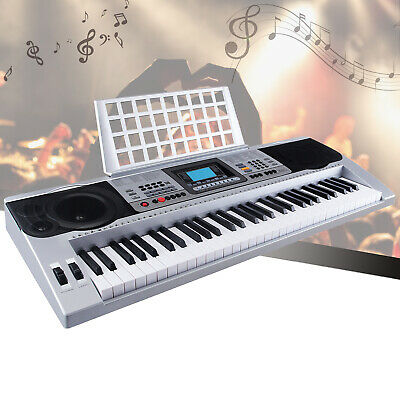 61 Key Electric Keyboard Digital Music Piano Instrument & Microphone LCD Display