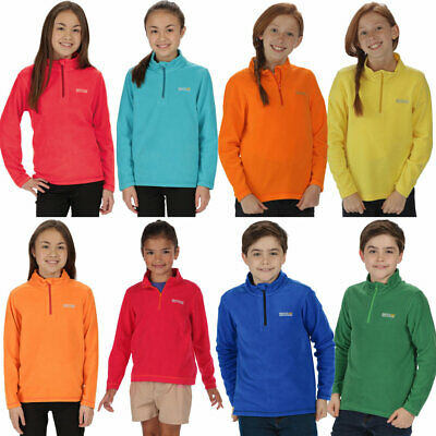 Regatta Boys & Girls Hot Shot II Lightweight Half Zip Fleece Top