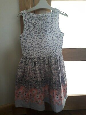 Girl's grey & peach dress. Next. New without tags. Age 9 years old. Height 134cm
