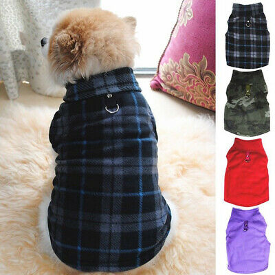 Small Pet Dog Fleece Harness Vest Puppy Warm Sweater Coat Shirt Jacket Apparel