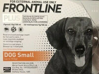 Frontline Plus 3 Months Supply For Small Dogs 0-22lbs (0-10kg) New, Fresh