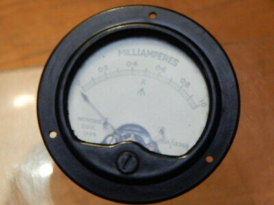 Ww2 1943 Raf 10A/12386 Milliamperes Moving Coil Gauge