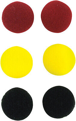 SoundLab Universal Coloured Replacement Foam Earphone Headphone Pads - 3 Pairs