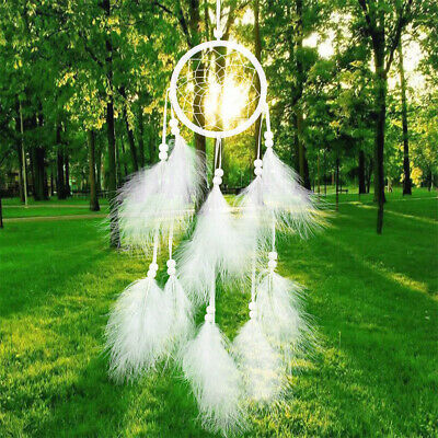 3 Colors Wall Hanging Pendant Dream Catcher Feather Bead Craft Home Decor Gift