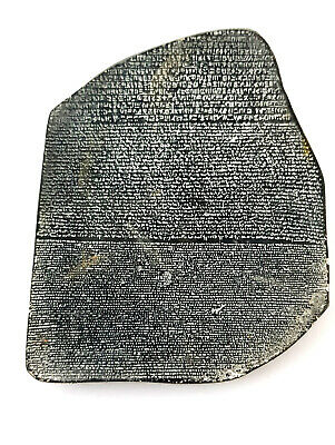 Very Rare charm Rosetta stone slab Egyptian antique egypt Figurine hieroglyphic