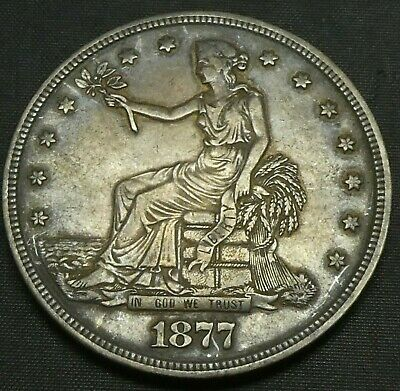 1877 $1 Trade Dollar US MInt Silver Coin