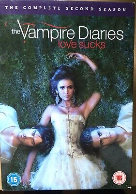 Vampiro Diaries Temporada 2 DVD Caja Set Eeuu Teen Horror TV Series Segunda