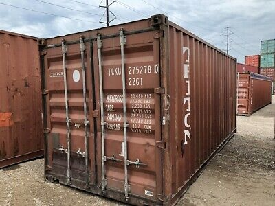 Used 20' Dry Van Steel Storage Container Shipping Cargo Conex Seabox Newark