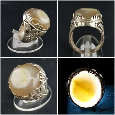 Agate Stone Ring Silver Men Sterling 925 Turkish Handmade Jewelry Natural Aqeeq