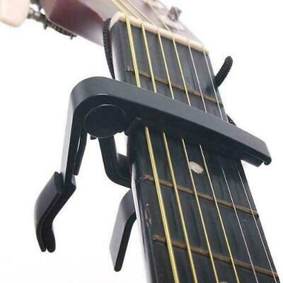 Guitar Capo Trigger Quick Change Key Clamp Guitar Electric & Acoustic Black UK