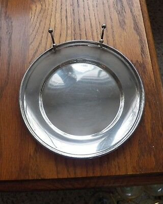 W H 802 Sterling 6 Inch Tidbit Tray with Knife Rest