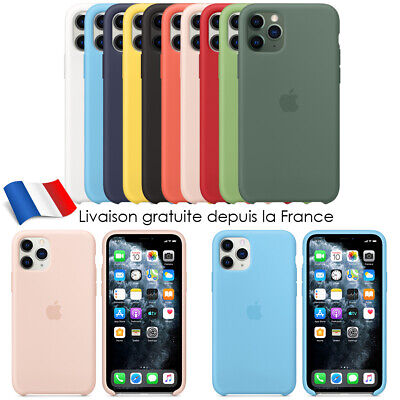 Coque Silicone Case iPhone 11/11 Pro Max X XR MAX Etui Coffret Protection