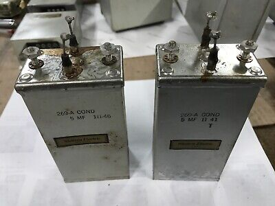 Western Electric - Pair of 269-A Oil Capacitors
