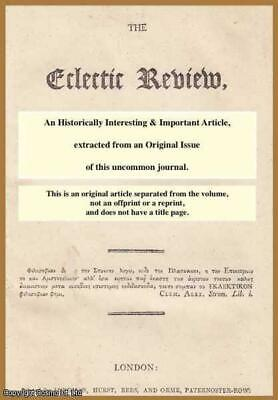 Biblia Hebraica. A rare original article from the Eclectic Review, 1817. 1817