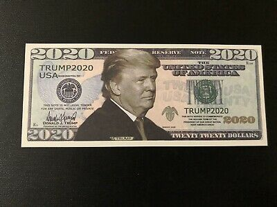 1 Piece US Donald Trump 2020 Novelty Dollar $ /Re-Election Presidential Note