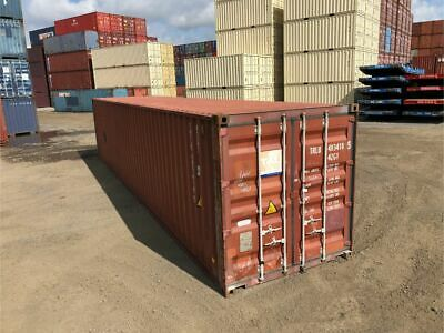 Used 40' Dry Van Steel Storage Container Shipping Cargo Conex Seabox Omaha