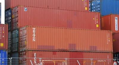 Used 40' High Cube Steel Storage Container Shipping Cargo Conex Seabox Portland