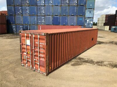 Used 40' Dry Van Steel Storage Container Shipping Cargo Conex Seabox Savannah