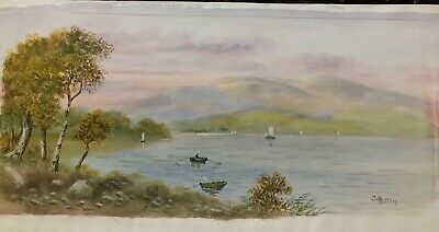 J. Russell Late Victorian era, early 20th Century Original Watercolour painting