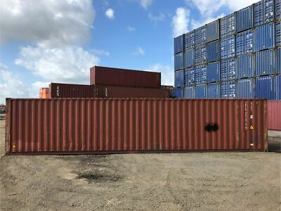 Used 40' High Cube Steel Storage Container Shipping Cargo Conex Seabox Savannah