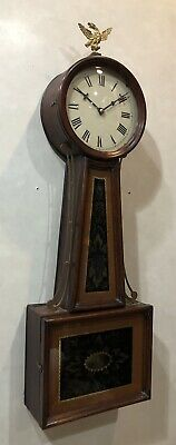 Early American Federal Period Weight Driven Banjo Wall Clock Killam & Co.