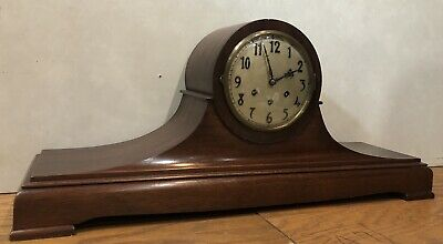 Huge Gustav Becker Westminster Chime Mantel Table Shelf Clock