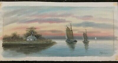 J. Russell Late Victorian era, Early 20th Century Original Watercolor