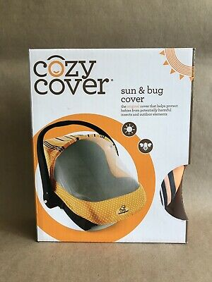 Cozy Cover Sun & Bug Cover Infant Carrier New Sealed Box - Orange - FREE SHIP