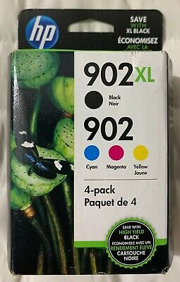 Genuine OEM HP 902XL Black & 902 Color Combo Retail Pack T0A39AN New Free Ship
