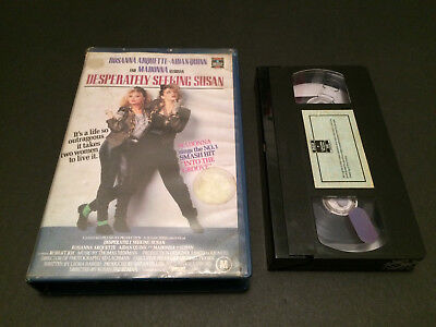 Desperately Seeking Susan 1St Press Australian Vhs Video Pal Format Madonna 1986