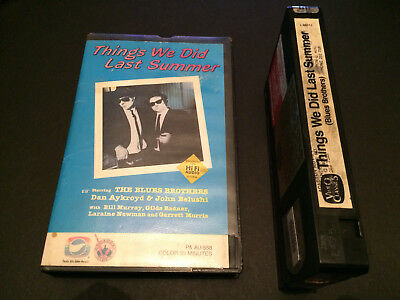 Things We Did Last Summer The Blues Brothers Australian Vhs Video Classics