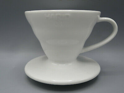 HARIO Japan 01 V60 White Porcelain Pourover Ceramic Dripper Coffee Filter - VG