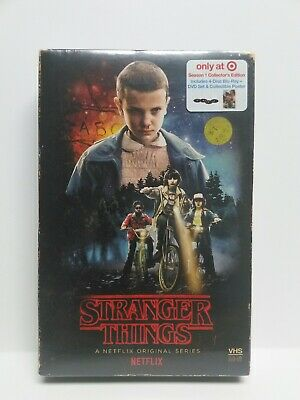 Stranger Things Season 1 4-Disc Bluray Dvd Collectors Edition Poster Target Excs