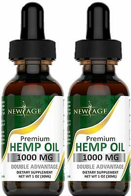 (2-Pack)Hemp Oil Extract for Pain & Stress Relief-1000mg of Organic Hemp Extract