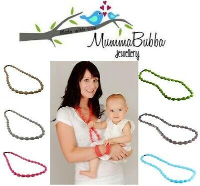 MummaBubba Silicone Baby Teething Jewellery Tulip Necklace For Mum.