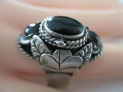 SILBER RING ° 925 / 1000 ° ONIX ° GIFTRING ° Silberschmuck ° Mexico °
