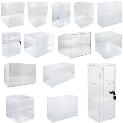 2/3/4 Shelves Acrylic Display Cabinet Muffin Cupcake Showcase Donut Pastries