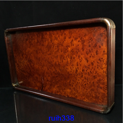 "14"" Collection Asia China old antique Rosewood Tray"