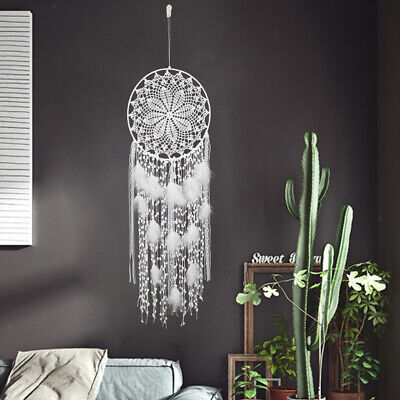 Bohemian Handmade Dream Catcher Large with Feather Wall Hanging Drop Wedding