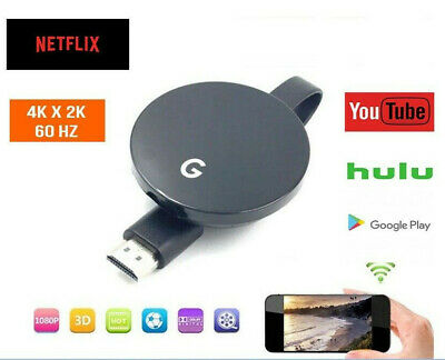 Chromecast 4 Wireless Mirascreen Hdmi Display Dongle Media Video Streamer