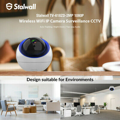 Stalwall TV-618ZD 2MP FHD 1080P Wireless WiFi CCTV IP Camera Security Webcam EU