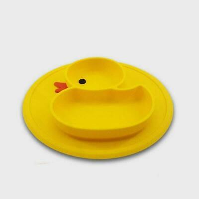 Cute Silicone Mat Baby Kid Anti Slip Table Food Suction Tray Placemat Plate Bowl