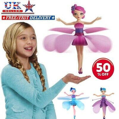 Girls Christmas Gift Flying Fairy Princess Doll Magic Infrared Control UK STOCK