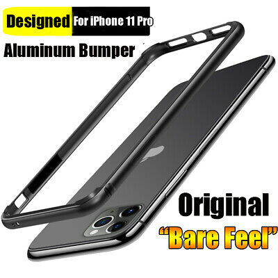 Hybrid Aluminum Metal Rugged Silicone Bumper Case Cover for iPhone 11 Pro Max