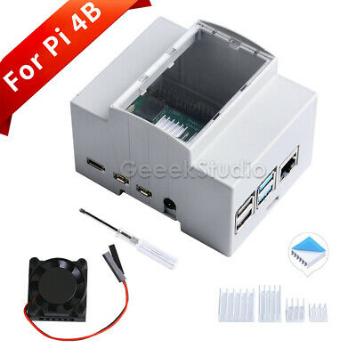 Raspberry Pi 4 Case ABS Electrical Box with Fan for Raspberry Pi 4 Model B