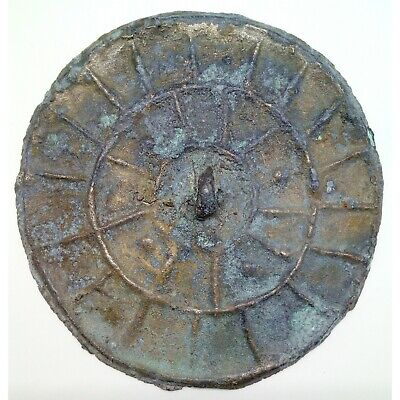 Bronze Mirror Pendant   74mm. /  300-400AD. Coin Celtic Scythians of Sarmatia