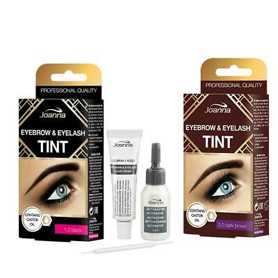 Joanna Henna Tint Black & Brown Cream Eyebrow Eyelash Full Dye Lash Kit SET 15ml