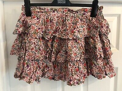 Girls Next Tiered Pink Floral Summer Skirt Age 16 Years